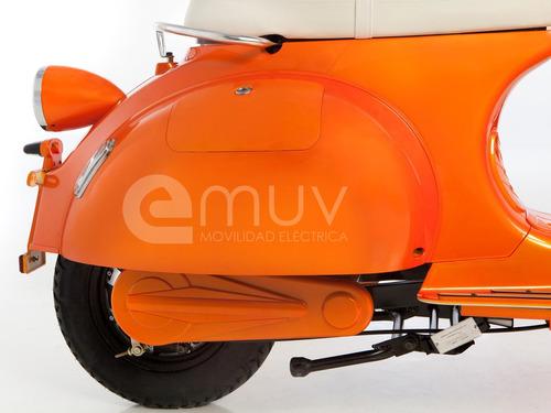 moto scooter electrica emuv mod berlina  vintage vespa ebike