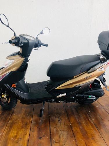 moto scooter haojue lindy 125 2019 marrom 0km