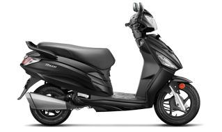moto scooter hero dash 110 con cargador usb para celular