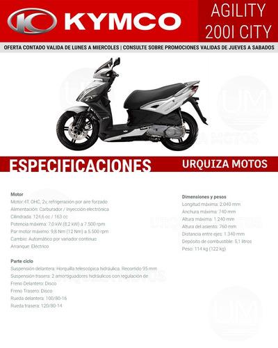 moto scooter kymco agility city 200i 200 i sym 0km