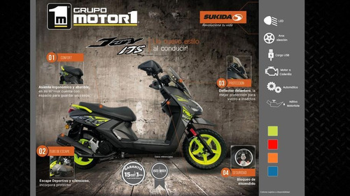 moto scooter sukida joy 175cc año 2020