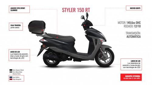 moto scooter zanella styler 150 rt con baul 0km financiado
