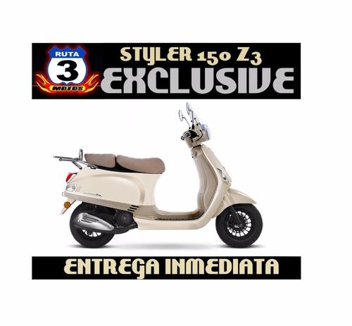moto scooter zanella styler 150 z3 exclusive 0km 2017
