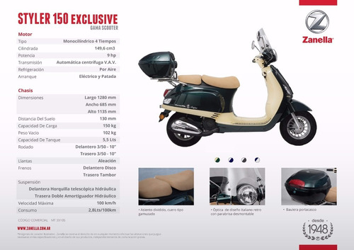 moto scooter zanella styler exclusive