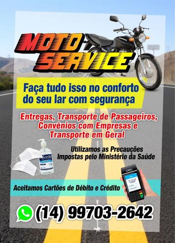 moto service, transporte de passageiro, convênios c/ empresa
