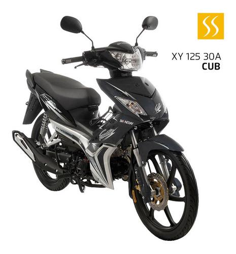 moto shineray caballito 4 tiempos 125 cc matricula + casco h