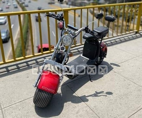 moto shopper electrico doble suspension modelo harley