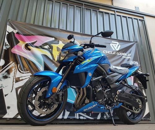moto suzuki 750 gsx abs naked 0km 2019 al 25/5 azul y negro