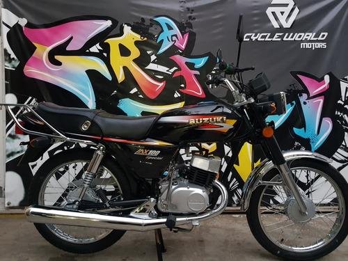 moto suzuki ax 100 0km 2019 promo al 22/02 cwm