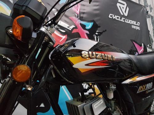 moto suzuki ax 100 0km 2020 promo al 14/8 cycle world