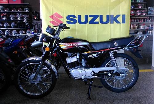 moto suzuki ax 100 *2018* cuotas ahora 12 18 negro 2018