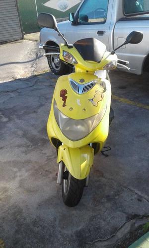 moto suzuki burgman 125 2008/2009 amarela único dono