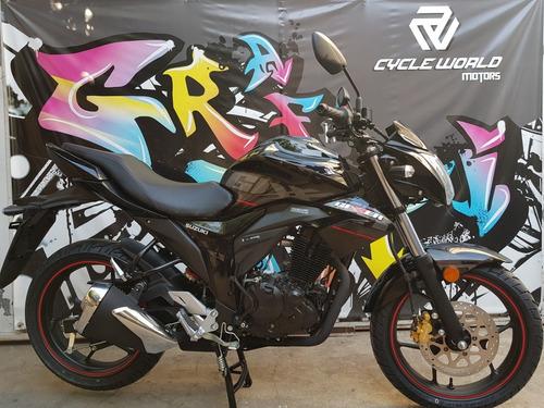 moto suzuki gixxer 150 naked 0km 2018 azul hasta 17/12