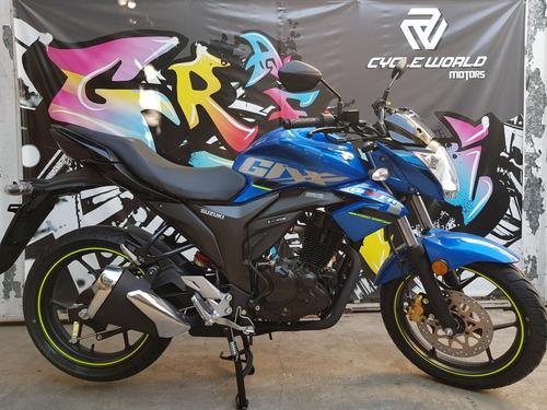 moto suzuki gixxer 150 naked 0km 2018 azul hasta 19/10
