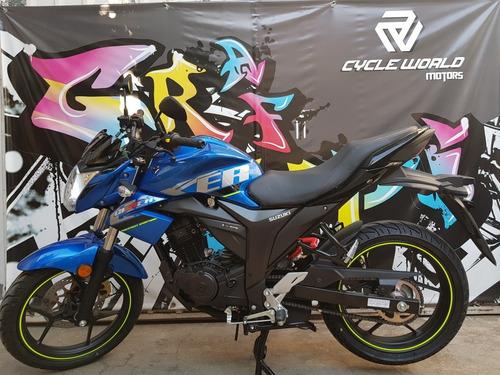 moto suzuki gixxer 150 naked 0km 2018 azul negro hasta 7/12