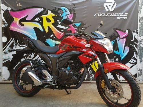 moto suzuki gixxer 150 naked 0km 2018 rojo hasta 19/10