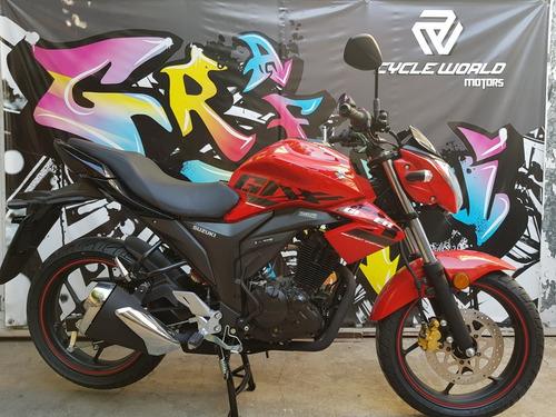 moto suzuki gixxer 150 naked 0km 2018 rojo hasta 7/12