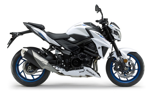 moto suzuki gsx 750 0km 2019 naked blanco entrega ya 19/7