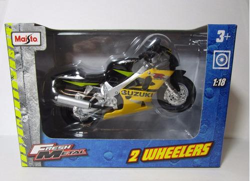 moto suzuki rgsx 600 escala 1/18 coleccion metalica 12cm