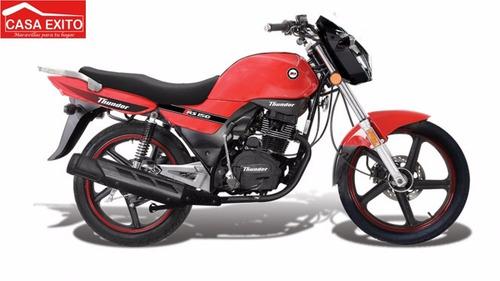 moto thunder rs 200  azul, negro, rojo 2016
