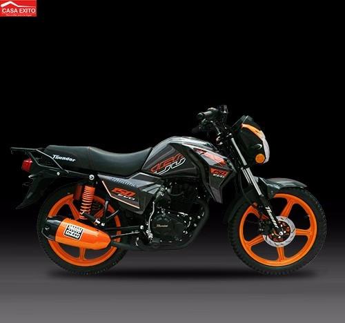 moto thunder rs150 evo naranja/blanco año 2018