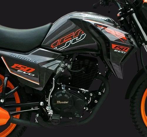 moto thunder rs150 evo naranja/negro año 2016