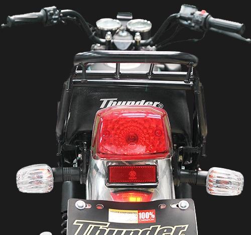 moto thunder tgn150 150cc color negro y rojo año 2018