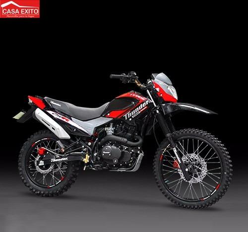 moto thunder trs 250r colores azul, negro,rojo /2016