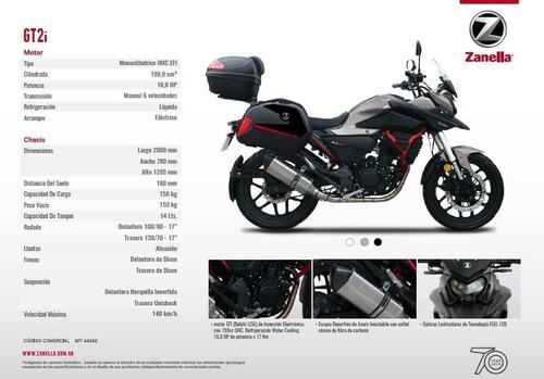 moto touring zanella gt2i valijas 0km inyeccion