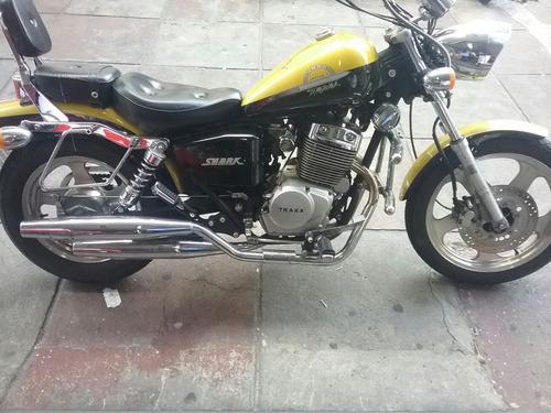 moto traxx shark 250 custom 2009, 12mkm r$599012x cartao