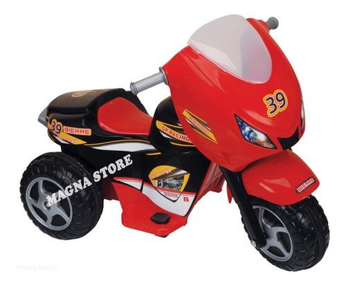 moto triciclo bateria electrico 6v gp biemme 3 a 6 años