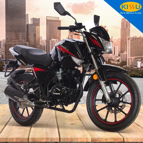 moto tundra bronco 150cc luz led alarma enfriamiento aire