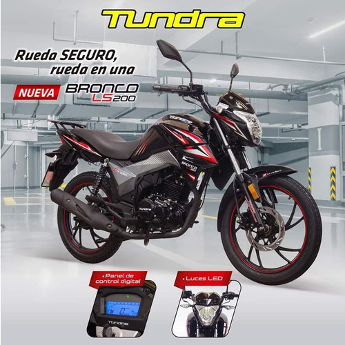 moto tundra bronco ls 200cc luz led tablero digital alarma
