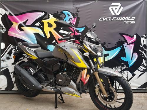 moto tvs rtr 200 v4 2020 0km carburador a 14/8  cycle world