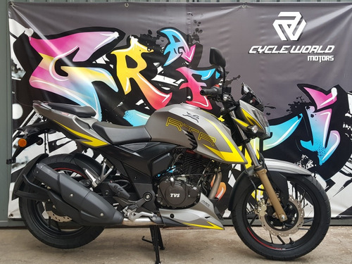 moto tvs rtr 200 v4 2020 0km carburador a 19/7  cycle world
