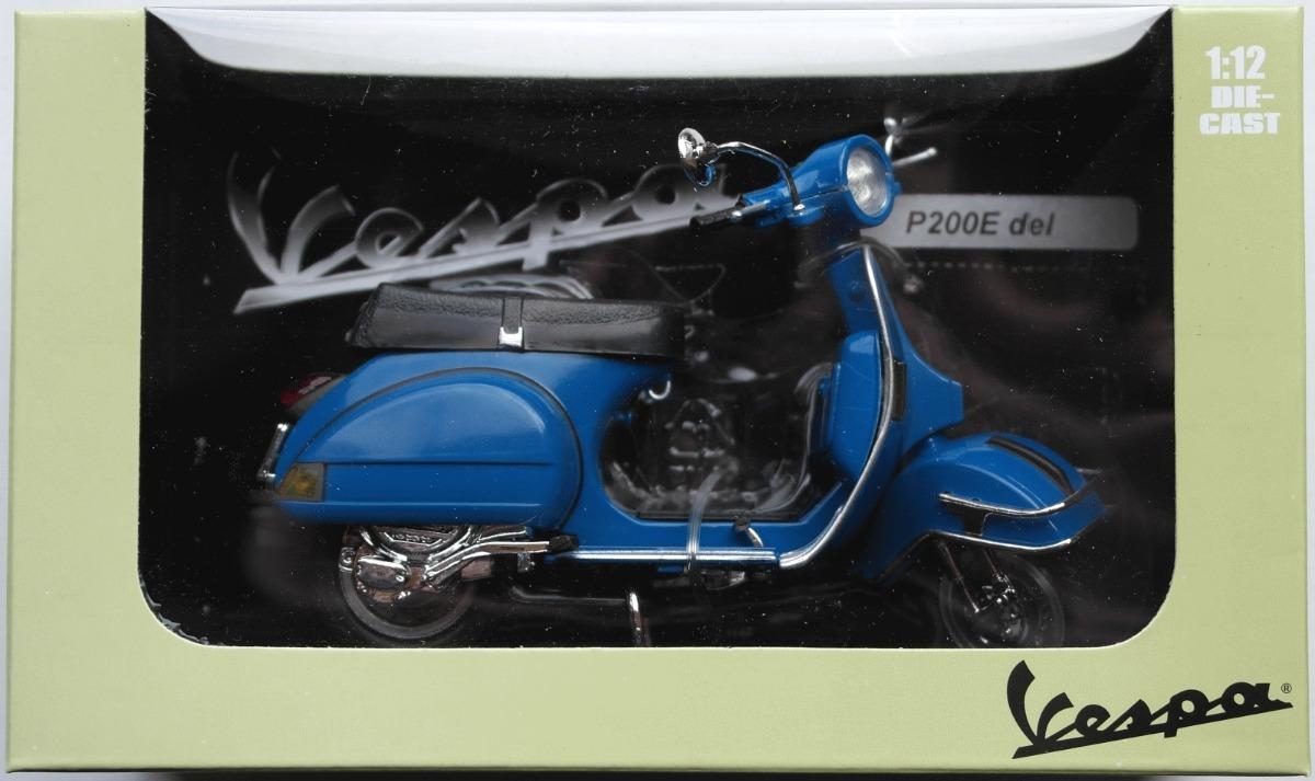 Vespa P 200 E Azul Escala 1:12 Diecast Metal Blue NewRay