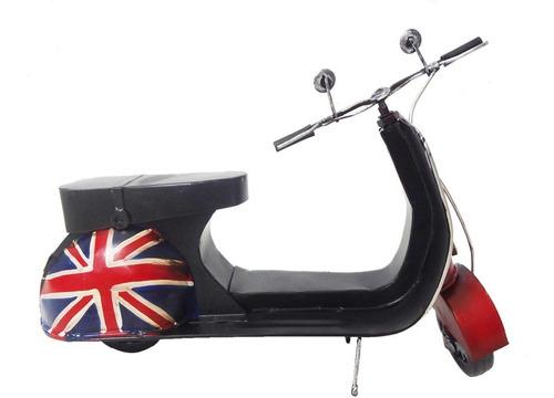 moto vespa vintage retro londres modelo metal fundido