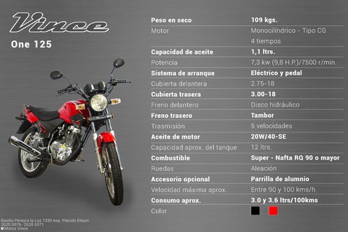 moto vince one 200
