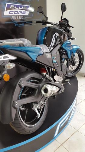 moto yamaha fz-s fi  0km 2018 azul/naranja/blanca