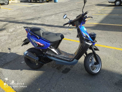 moto yamaha  yw - 100 , modelo 2004, azul, dos tiempos