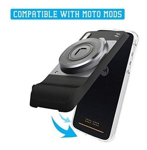 moto z bumper negro/transpa - compatible con moto mods