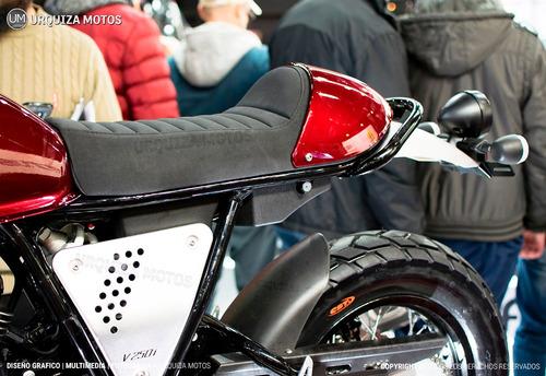 moto zanella ceccato v250i inyeccion cafe racer novedad