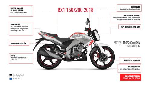 moto zanella rx 1 150 0km 2019 color azul