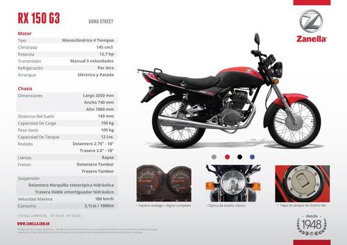 moto zanella rx 150 g3 0 km z6 z7 rx150 vc cg guerrero ofert
