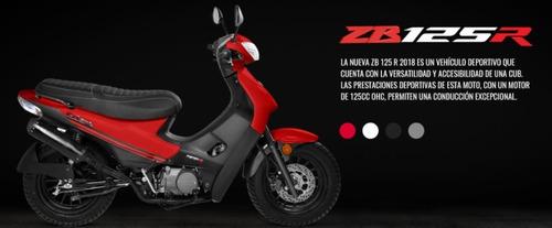 moto zanella zb 125 r tunning 0km 2019