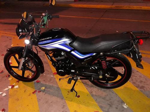 moto zongshen zs150-a,+gratis casco articulado+cadena segur.