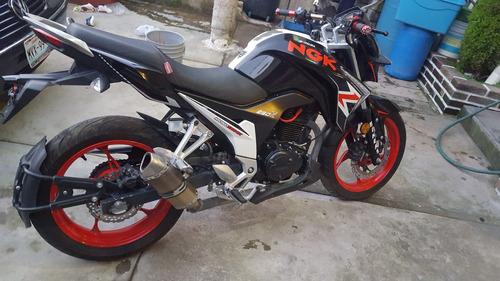 moto250z deportiva italika rojo negra