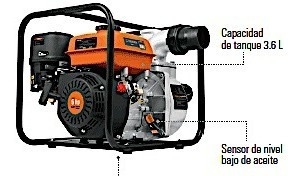 motobomba a gasolina de agua 6 hp 830 litros minuto 3 salida