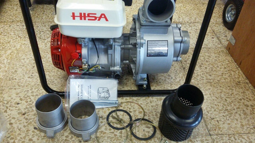 motobomba caudal a gasolina 3x3 motor 6.5hp marca hisa
