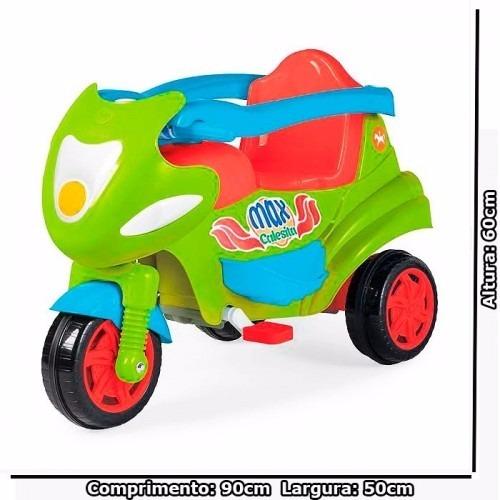b3458921c4 Motoca Carrinho De Passeio Tricicolo Max Calesita Verde - R  436